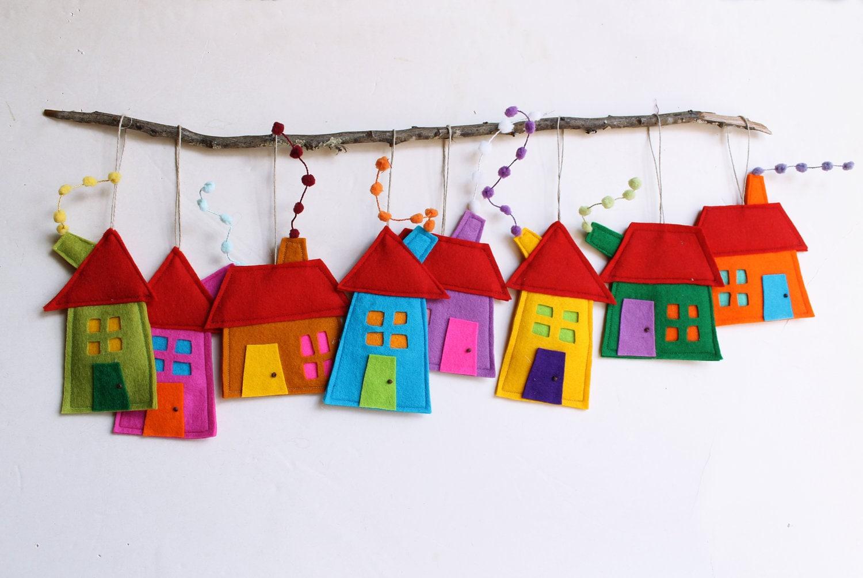 Ornamenti di decorazione della casa set di otto case di etsy for Decorazione della casa