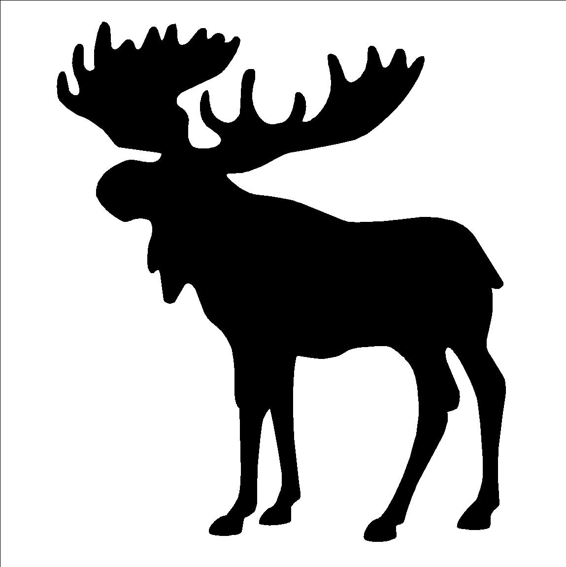 It is a picture of Stupendous Moose Template Printable