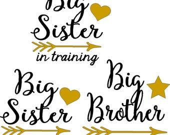 Custom Sibling Decals, seven iron on decals, do it yourself, shirts not included