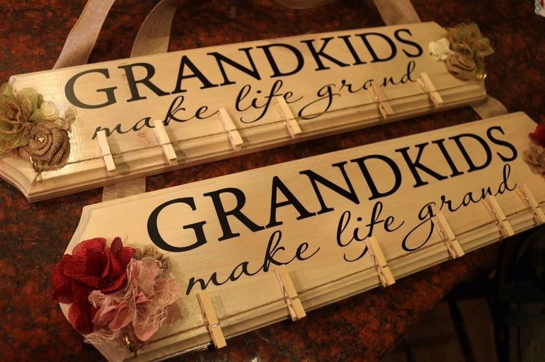 Grandkids Make Life Grand DECAL ONLY 20 x 4.25 one or two image 0