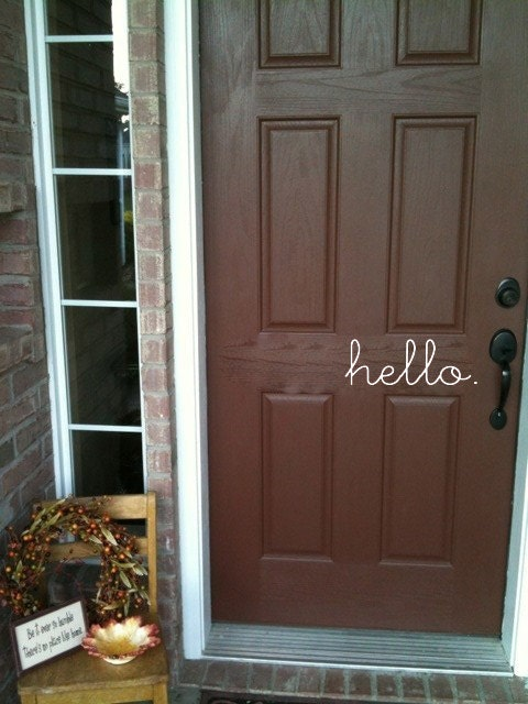 Hello Vinyl Lettering Decal For Front Door 14 X 5 25 Etsy