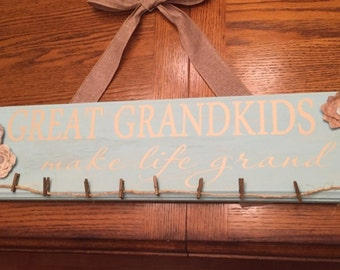 Great Grandkids Make Life Grand DECAL ONLY measuring 22 x 5 board not included
