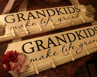 Grandkids Make Life Grand DECAL ONLY  16.5 x 4.75 board not included
