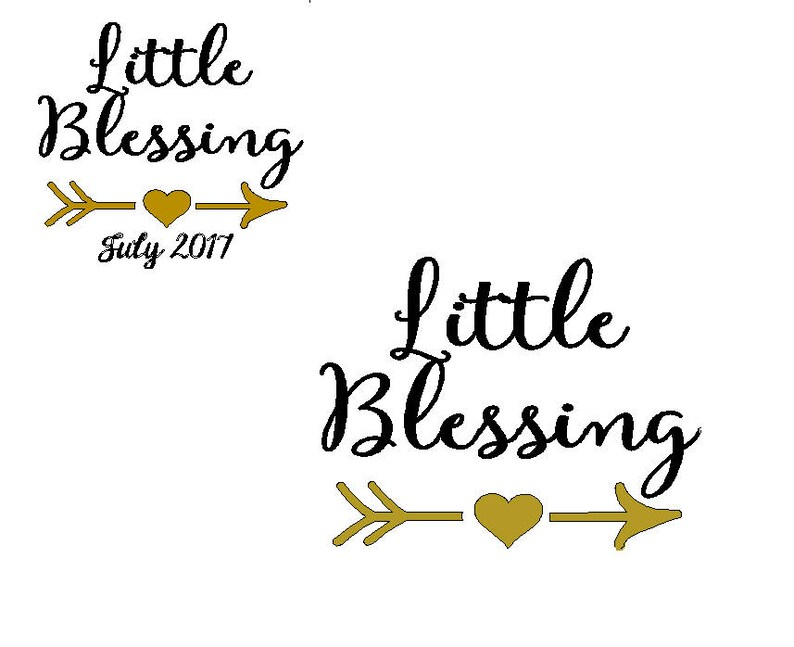 Little blessing iron on decal image 0
