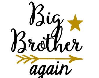 Big Brother again with star, matches the big sister designs  PNG files included