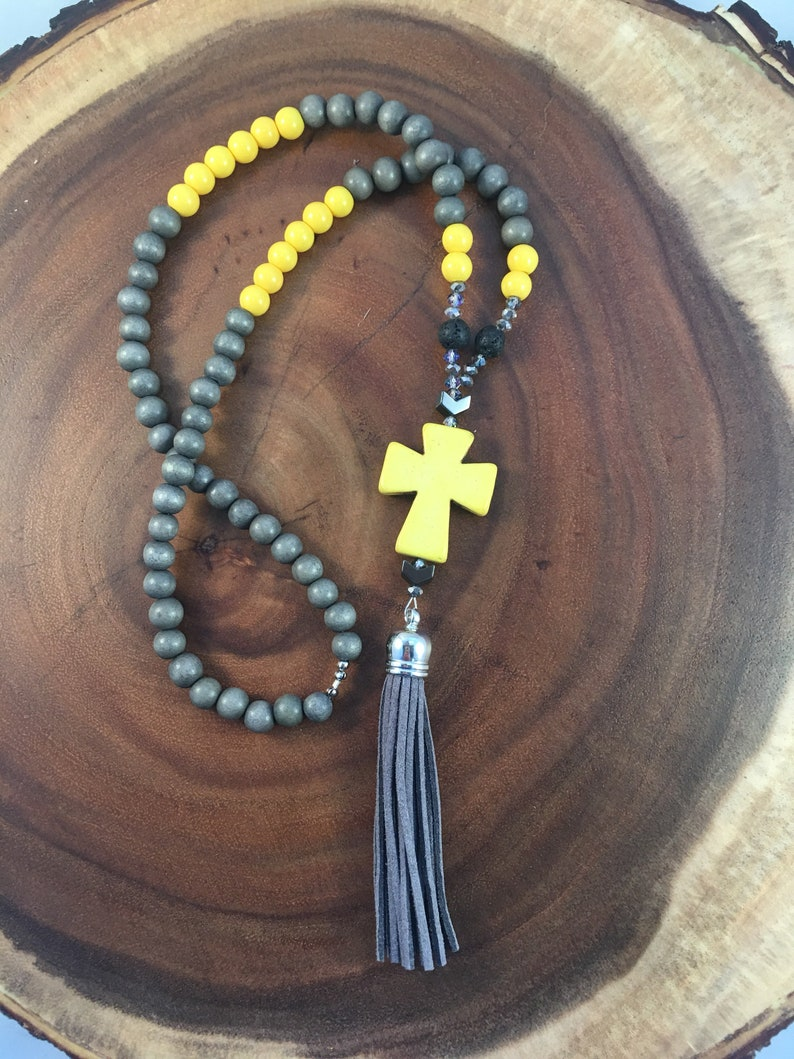 51affd841a26db Boho beaded tassel necklace long necklace Religious cross