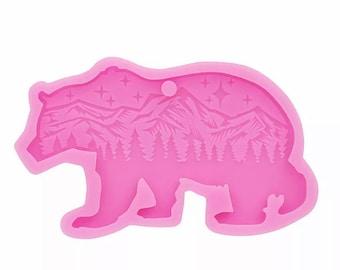 Bear keyring mold, Silicone mold, craft supplies, Resin mold, Silicone keychain mold, Mama bear, Wildlife resin mold, Mountain range