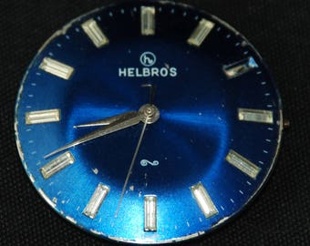 Gorgeous Helbros Honeycombed Watch Movement Steampunk Altered Art Assemblage Industrial RB 24