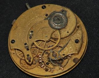 Vintage Antique Waltham Watch Pocket Watch Movement Steampunk SM 42