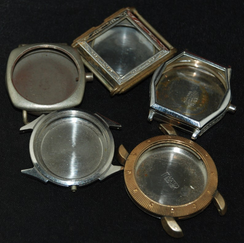 Vintage Antique Steampunk Watch Cases Altered Art Industrial Etsy