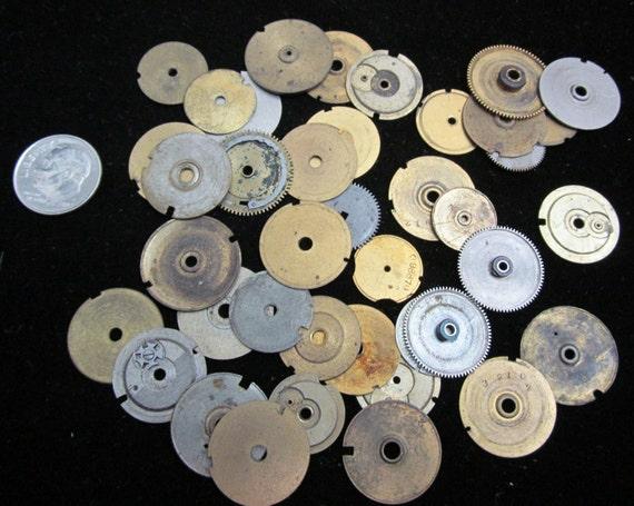Antique horloge Vintage Goodies montre pièces interchangeable engrenages Assemblage Steampunk industrielle Art Goodies Vintage CG 20 01bd55