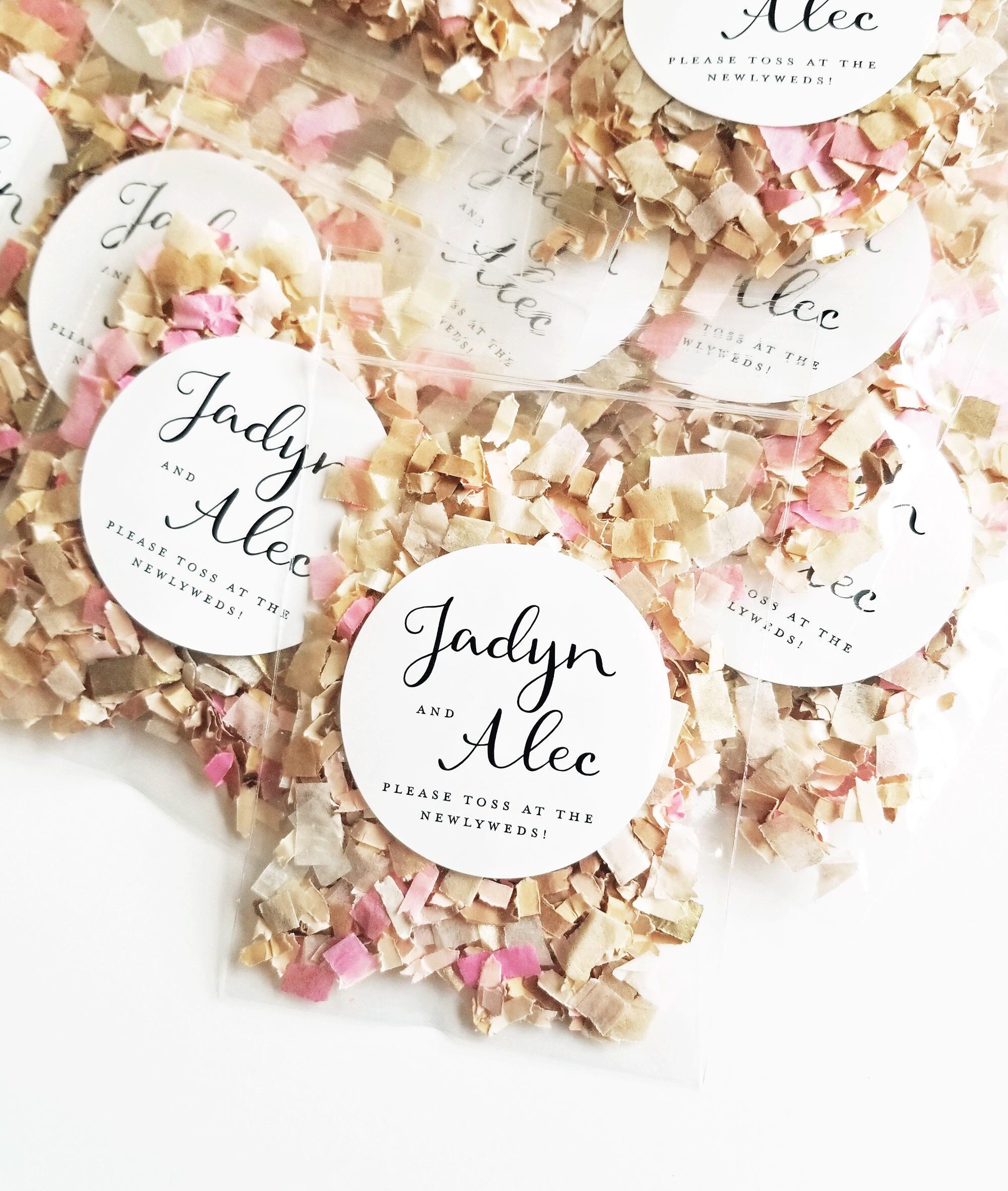 Wedding Confetti Toss Packets Custom Biodegradable Confetti