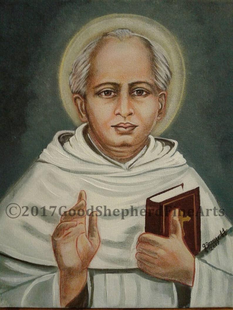 Saint Kuriakose Elias Chavara Founder Catholic Art, Vicar General of East Syrian of Malabar 8x10 /& 11x14 Prints on White Card Stock
