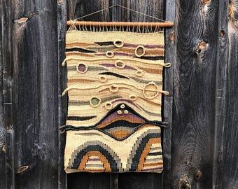 Vintage Original fibre Textile Wall Art suspension en macramé
