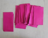 Magenta Pink Leather Square.  Supplies Crafting Project