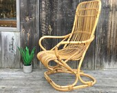 Amazing Albini Style Italian Modern Rocking Chair