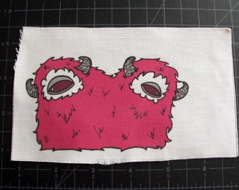 Pink Two-Headed Monster Patch