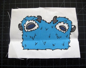 Blue Two-Headed Monster Patch