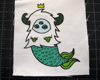 Teal Royal MerYeti Patch