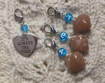 Always Tea Time Progress Keeper Clip set I Love Tea Set of 4/SM324