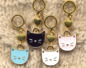 Contented Cats Knitting Stitch Markers Love My Kitty Set of 4/SM348