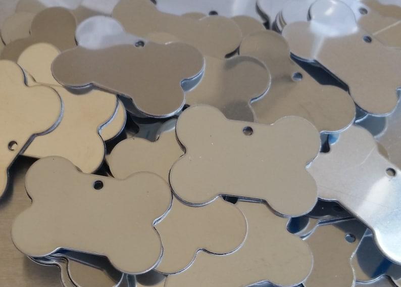 18 gauge Bopper Dog Tags Etching Blanks Metal Stamping Blanks Key Chain Stainless Dog Bones Engraving Blanks Qty 3#