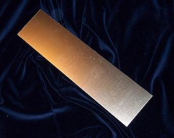 Brass Sheet - 24 gauge, stamping blanks, metal blanks, stamping sheets, etching sheet, embossing sheet, Bopper, stamping supplies,