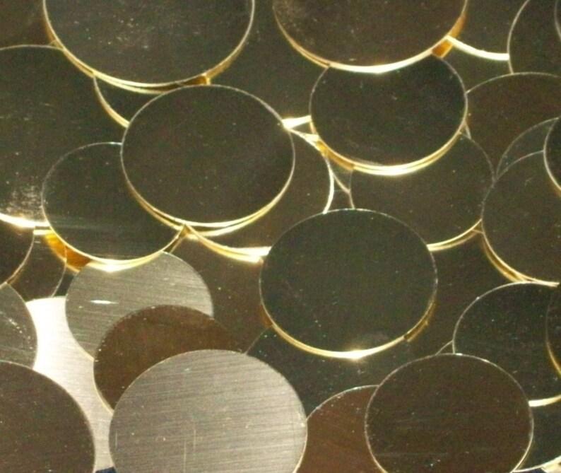 Brass Discs  22 Gauge stamping blanks metal stamping image 0