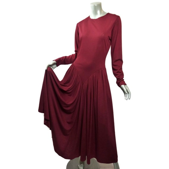 Droopy & Browns Red Smooth Wool Knit Dress UK 14 U