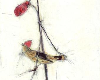 Bird Painting Collage