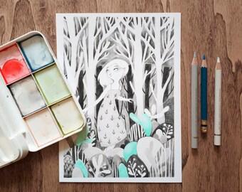Bosque A5 Print