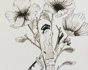 Flowered Original Art