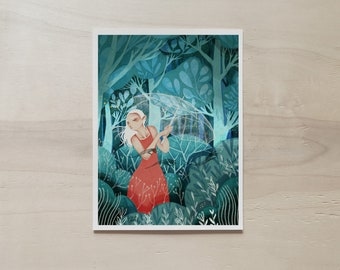 Red Dress A5 Print