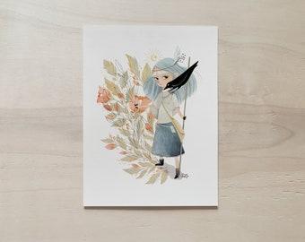 Dark Forest A5 Print