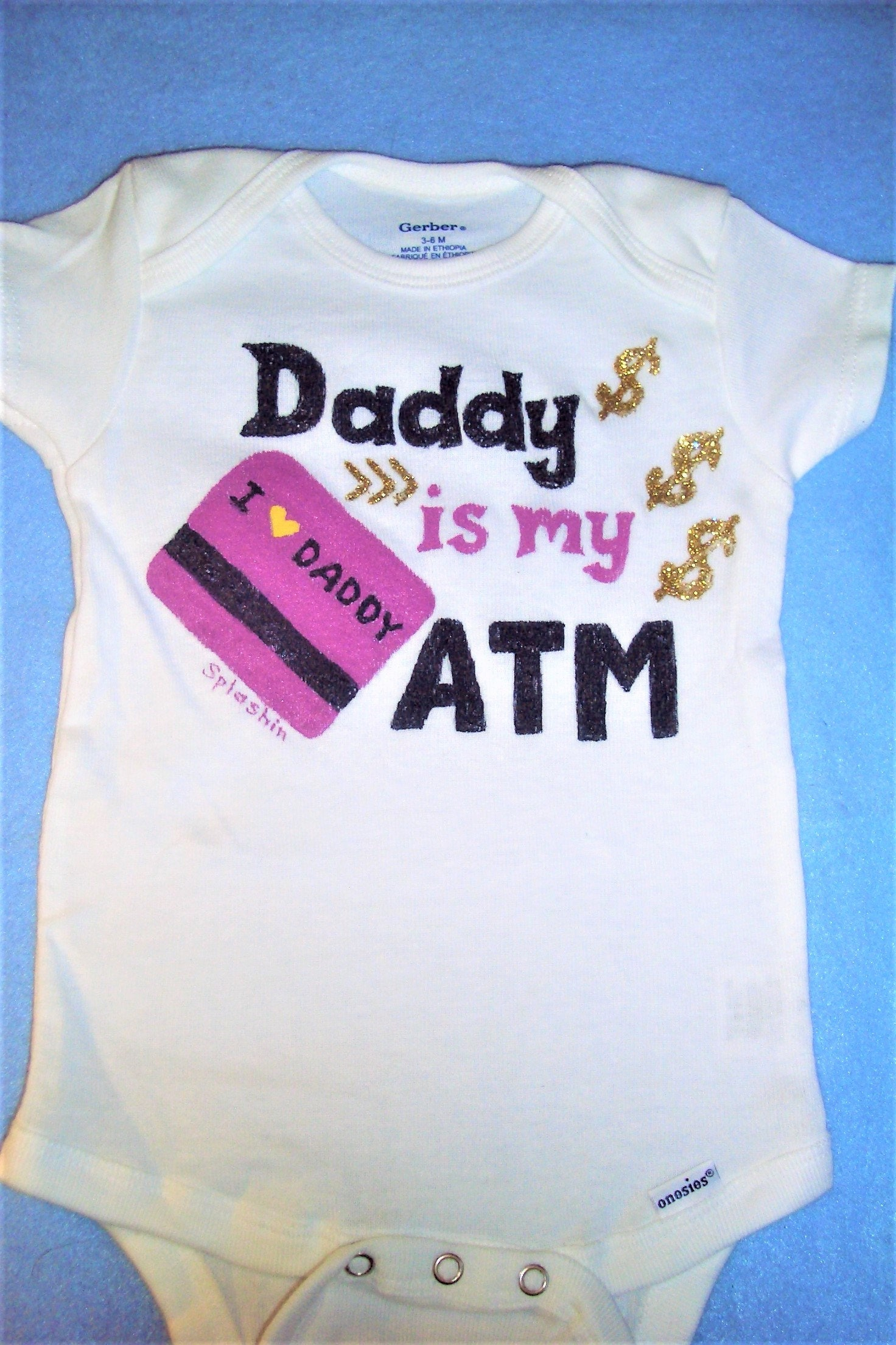 b637e8942528 Daddy is my ATM Daddys Girl Baby Bodysuit Baby Girl Outfit