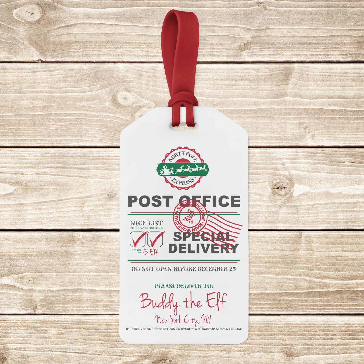 INSTANT DOWNLOAD Digital North Pole Express Post Office | Etsy