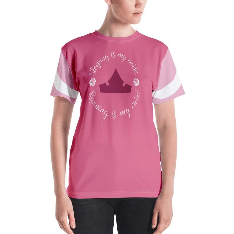 6b89c9ae6c3 Sleeping Beauty Running Costume Performance Shirt Print