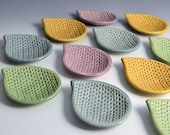 Paisley tear Drop dishes with Knitting Pattern MADE TO ORDER