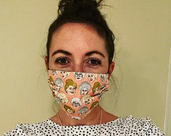 Golden Girls face mask (PEACH)