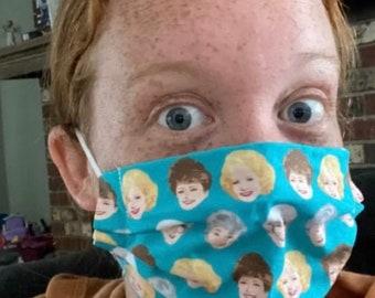 Golden Girls face mask (TEAL)