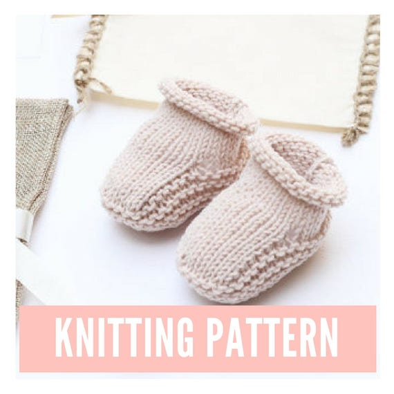 Baby booties knitting pattern easy knit baby booties baby | Etsy
