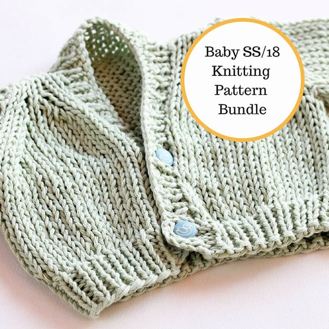 Baby Knitting Patterns Easy Knit Baby Patterns Baby Knitting Etsy