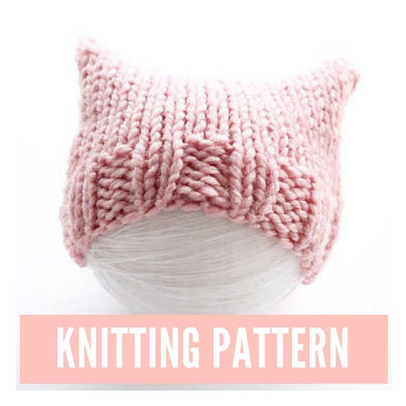 0f4c7002c83 Pink cat hat knitting pattern pussyhat for baby easy hat