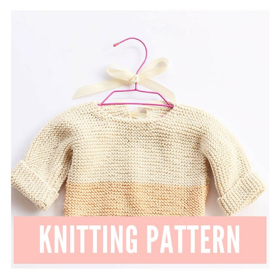 a902bde540be Baby sweater knitting pattern baby pullover baby knitting