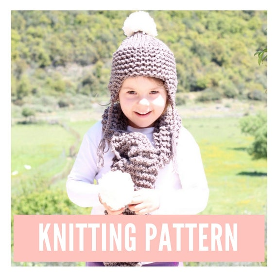 Kids hat and scarf knitting pattern kids beanie pattern easy  398fc597807