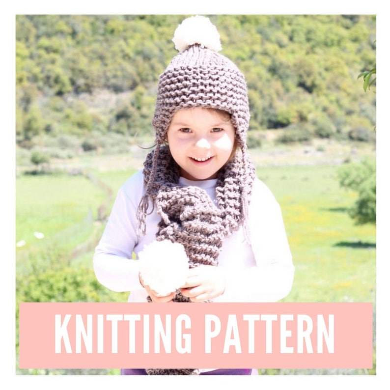 Kids Hat And Scarf Knitting Pattern Kids Beanie Pattern Easy Etsy