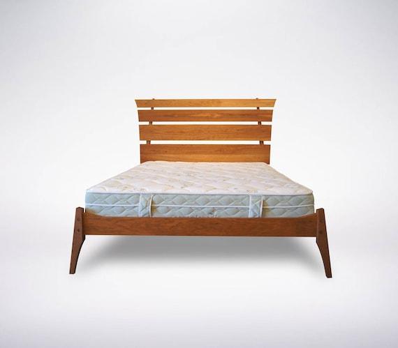 Strata Solid Wood Platform Bed Contemporary Modern Organic Etsy