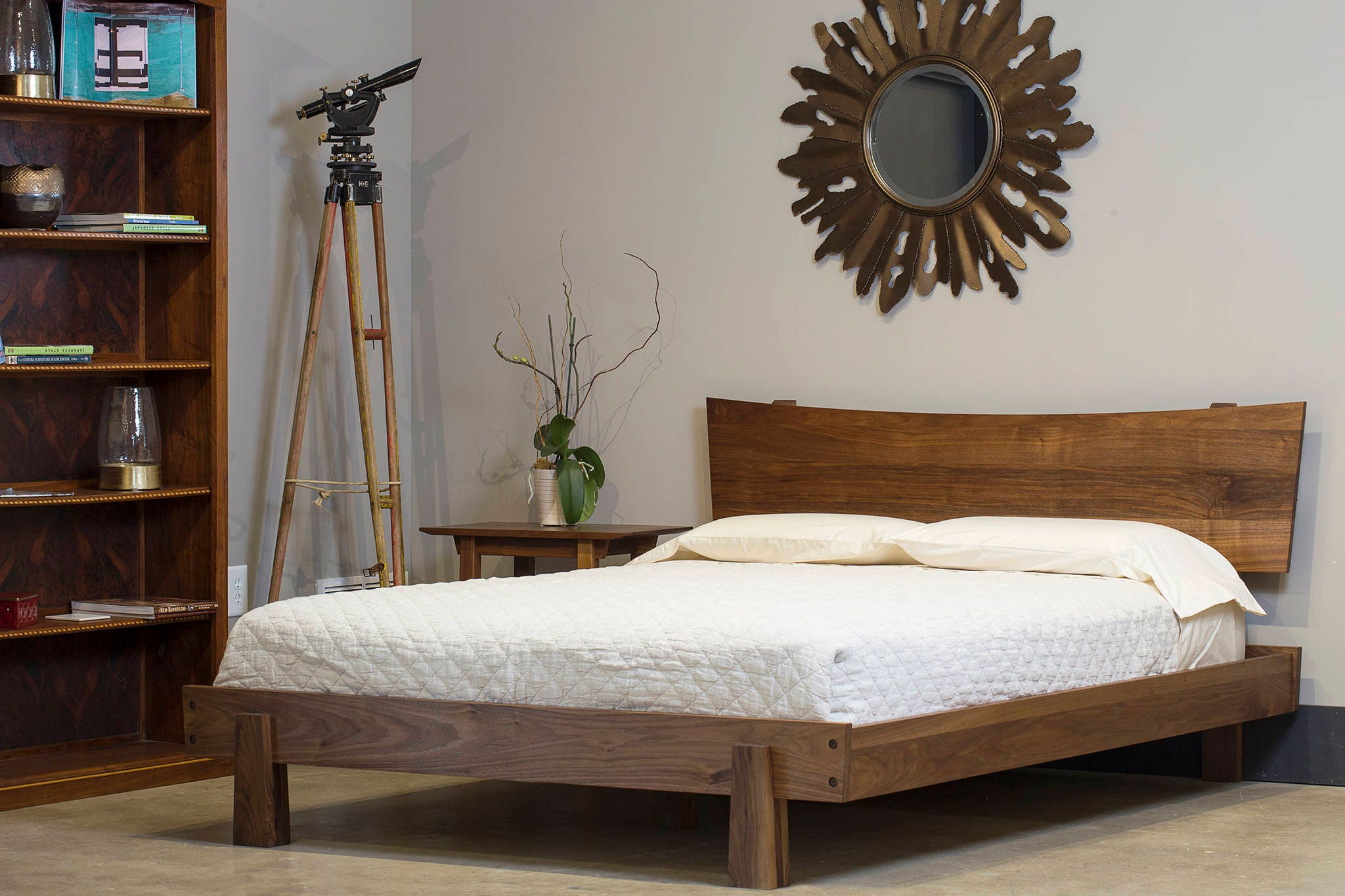 Enso Platform Bed Modern Rustic Asian twin full double queen