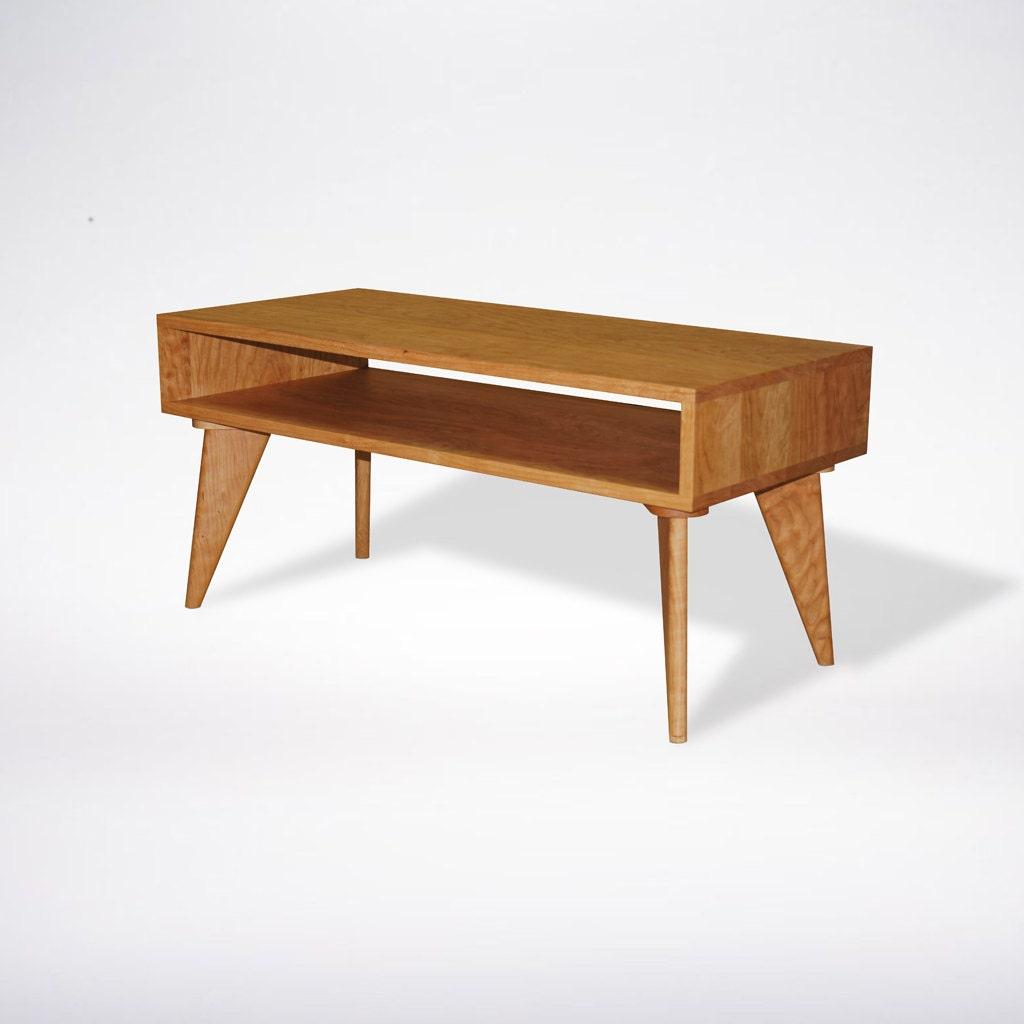 Handmade Mid Century Coffee Table: Modern Coffee Table Mid Century Modern Solid Wood Handmade