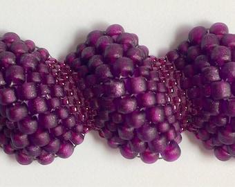 Supply Kit only- Reptilian Ripple bracelet, Purple Python colorway.